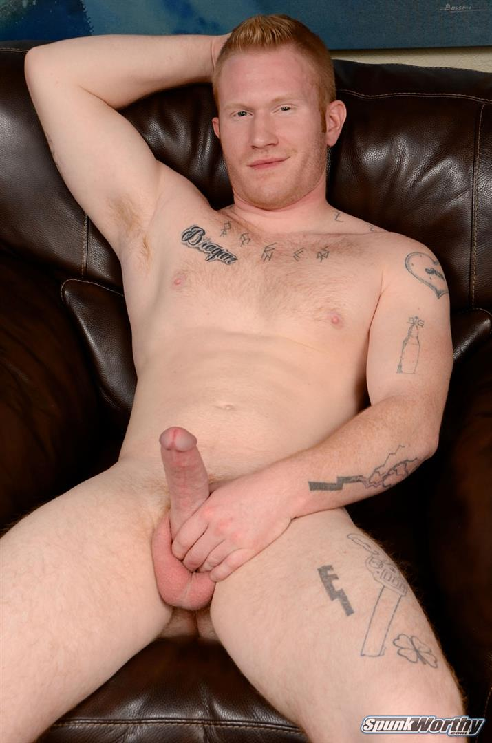 SpunkWorthy-Perry-Straight-Redhead-With-A-Big-Cock-Jerking-Off-Amateur-Gay-Porn-06 Straight Hunky Redhead Jerking Off His Big Ginger Cock