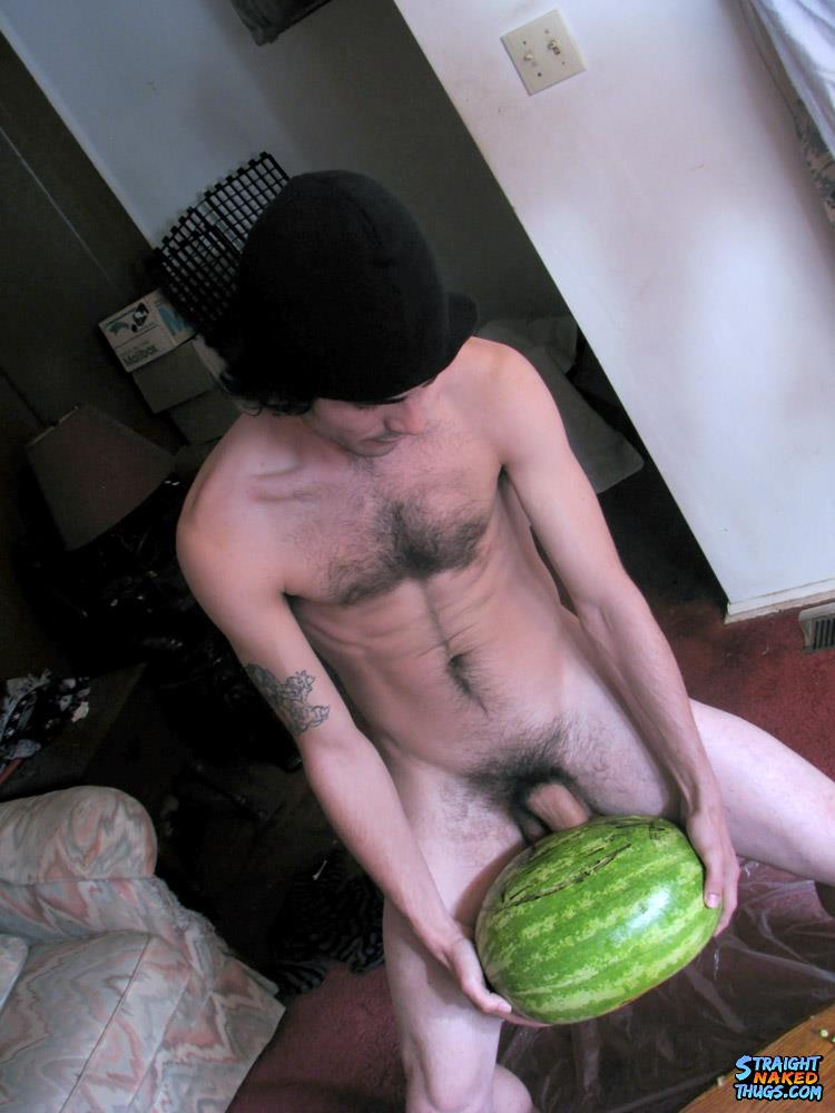 Straight-Naked-Thugs-Devin-Reynolds-and-Blinx-and-Kenneth-Slayer-Fucking-A-Watermelon-Amateur-Gay-Porn-10 Straight Southern Naked Rednecks Fuck Some Watermelons With Their Big Dicks