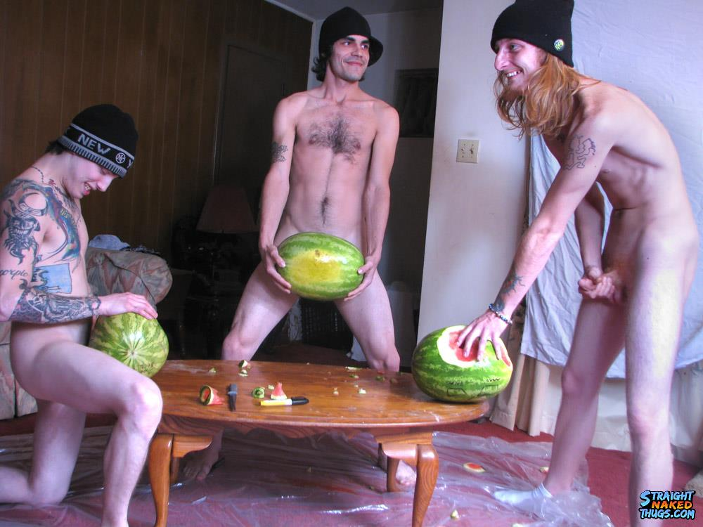 Straight-Naked-Thugs-Devin-Reynolds-and-Blinx-and-Kenneth-Slayer-Fucking-A-Watermelon-Amateur-Gay-Porn-12 Straight Southern Naked Rednecks Fuck Some Watermelons With Their Big Dicks