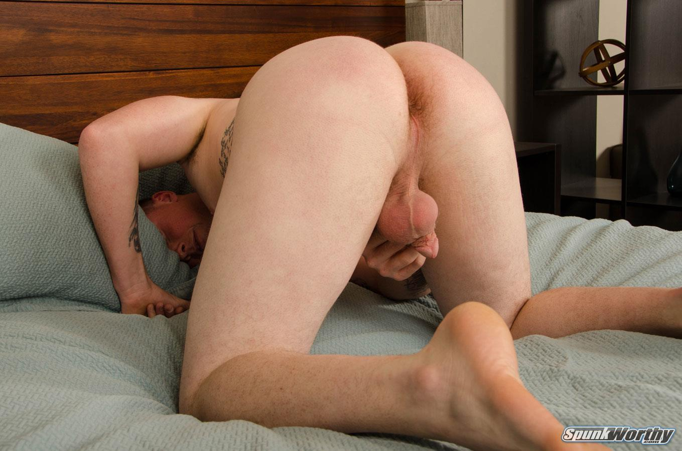 SpunkWorthy-Bryson-Marine-Gets-A-HandJob-From-Another-Guy-13 Redheaded Marine Gets Jerked Off By A Guy While His Wife Watches